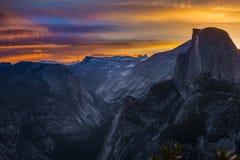 Yosemite National Park Sunrise Glacier Point Stock Image