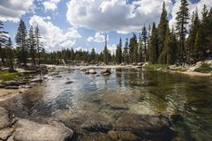 Yosemite National Park Toulumne River Royalty Free Stock Photography