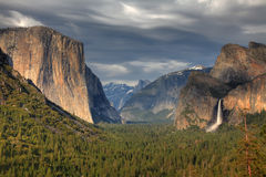 Yosemite National Park - Tunnel View Royalty Free Stock Photo