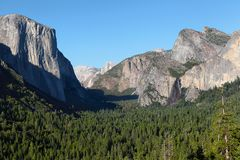 Yosemite National Park: Tunnel View Stock Photo