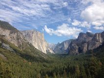 Yosemite national park. Tunnel view royalty free stock photo