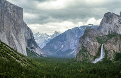Yosemite National Park tunnel view Stock Photography