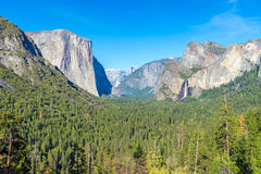 Yosemite National Park Valley in spring time Royalty Free Stock Photos