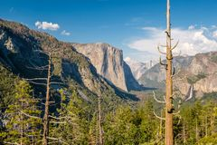 Yosemite National Park Valley summer landscape Royalty Free Stock Photo