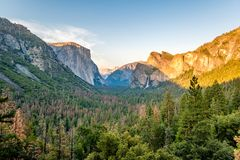 Yosemite National Park Valley summer landscape Royalty Free Stock Photos