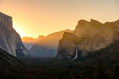 Yosemite National Park Valley at sunrise Stock Photo