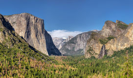 Yosemite National Park Valley from Tunnel View Stock Images