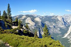 Yosemite National Park - View from Glacier Point. Yosemite National Park (California's Sierra Nevada mountains) - Stunning view from Glacier Point Royalty Free Stock Photos
