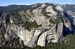 Yosemite National Park - View from Glacier Point. Yosemite National Park (California's Sierra Nevada mountains) - Stunning view from Glacier Point Royalty Free Stock Photo