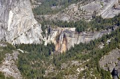 Yosemite National Park - View from Glacier Point with waterfalls Stock Photography
