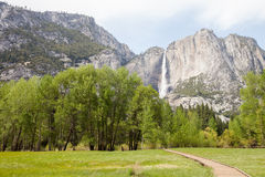 Yosemite National Park. Waterfall at the Yosemite National Park in California Royalty Free Stock Photo