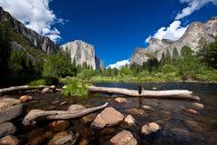 Yosemite nationalpark, Merced flod Royaltyfri Foto