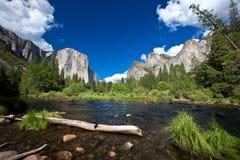 Yosemite nationalpark, Merced flod Royaltyfria Bilder