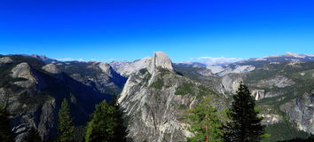 Yosemite Natonal Park Panoramic View Royalty Free Stock Photography