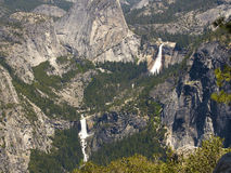 Yosemite: Nevada & Vernal Falls, close Stock Photo
