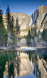 Yosemite-Oberleder-Fälle Lizenzfreie Stockbilder