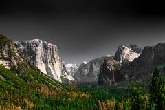 Yosemite oscuro Foto de archivo libre de regalías