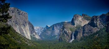 Yosemite Panoramic with Half Dome Stock Images
