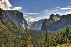 Yosemite Panoramic View Royalty Free Stock Image