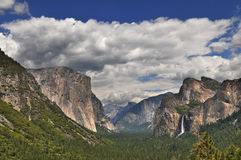 Yosemite panoramic view Royalty Free Stock Image