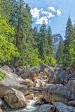 Yosemite Park falls view Royalty Free Stock Image