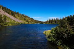 Yosemite park narodowy, góry i Dolinny widok, obraz stock