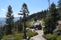 Yosemite, point de glacier image stock