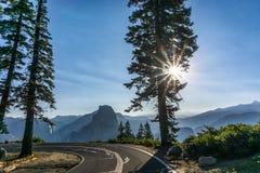 Yosemite - punto del glaciar Imágenes de archivo libres de regalías