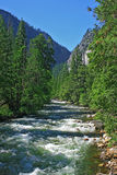 Yosemite river In summer On A Clear Day Stock Photography