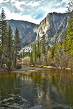 Yosemite River and Upper Falls HDR Royalty Free Stock Images
