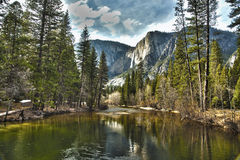 Yosemite River and Upper Falls HDR Stock Images