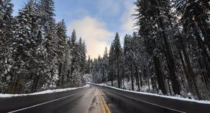 Yosemite river in Winter Stock Images