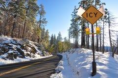 Yosemite river in Winter Stock Image
