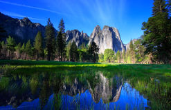 Yosemite Rocks and Reflection royalty free stock photography