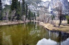 Yosemite rzeki siklawa Zdjęcia Royalty Free