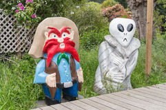 Yosemite Sam and an Extraterrestrial Alien Stock Photo
