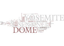 Yosemite Sentinel Text Background  Word Cloud Concept Stock Photo
