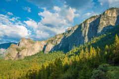 Yosemite and Sierra Nevada Royalty Free Stock Image