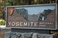 Yosemite sign Royalty Free Stock Photography