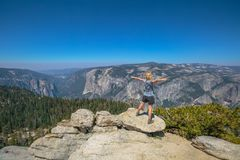 Yosemite summit panorama Stock Photography