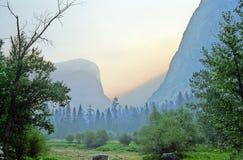 Yosemite sunrise. Sunrise in Yosemite Stock Photo