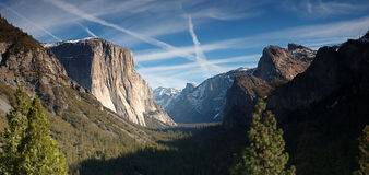 Yosemite Sunset. Sunset at Tunnel View of Yosemite, California Royalty Free Stock Image