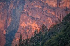Yosemite Sunset Bluffs stock photo
