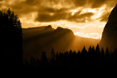 Yosemite sunset in Clouds Stock Image