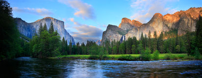Yosemite Sunset Panorama Stock Images