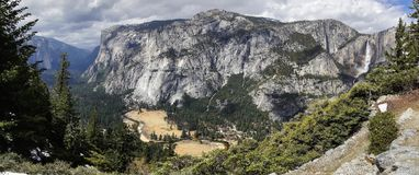 Yosemite-Tal-Panorama Stockbild