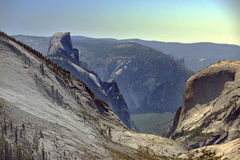 Yosemite-Tal vom Osten Stockfoto
