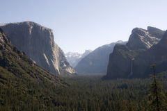 Yosemite tunnel view Stock Photos