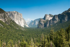 Yosemite tunnel view Stock Photos