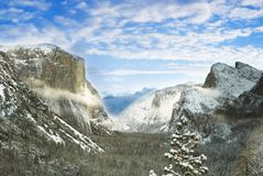 Yosemite Tunnel View Royalty Free Stock Photos